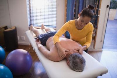 woman massage her client